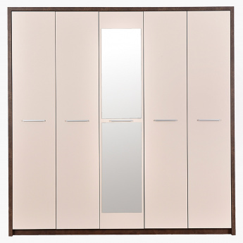 Regato 5-Door Wardrobe with Mirror