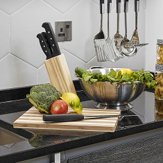 Sharp 7-Piece Knife Block Set