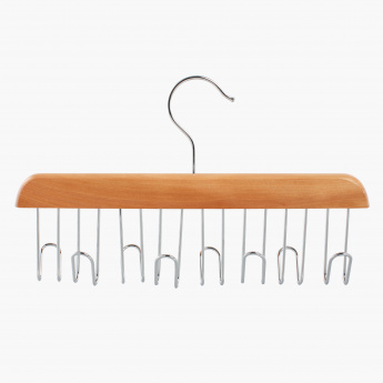 Forest 8 Hooks Belt and Tie Rack Set