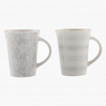 Platinum Printed Mug - Set of 2