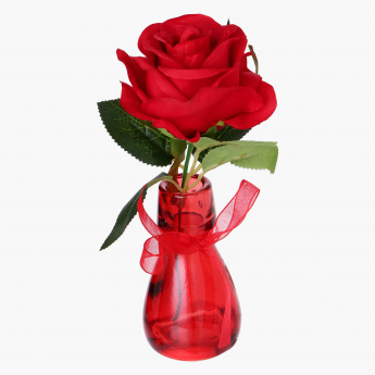 TOQUE Vase with Rose Flower