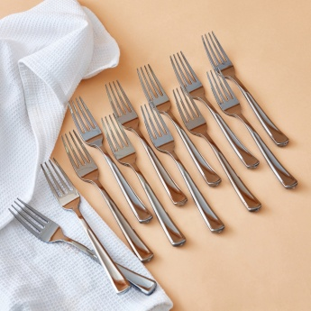 Electroplated Plastic Fork - Set of 12