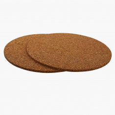 Round Cork Coaster Set