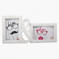Him & Her 2-Photo Frame - 6x4 inch
