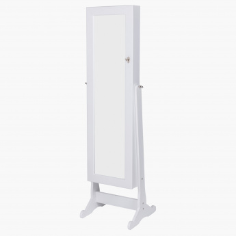 Astoria Floor Standing Mirror with Jewellery Cabinet