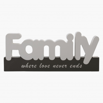 Family Decorative Accent - 21x9 cms