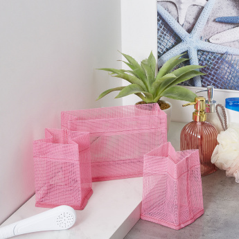 Candy 3-Piece Bathroom Mesh Basket Set