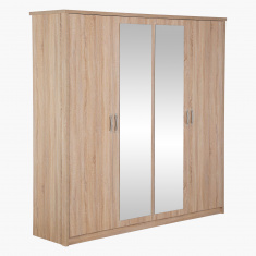 Costagat 4-Door Wardrobe with 2 Mirrors