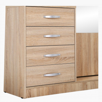 Novi 4-Drawer Tall Dresser with Mirror