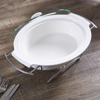 Supreme Oval Casserole with Lid - 33 cms