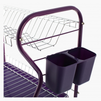 Inter Side 3-Tier Dish Rack with Caddies and 2 Trays