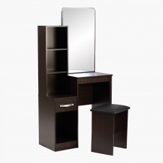 Joy Agata Dresser with Mirror And Stool