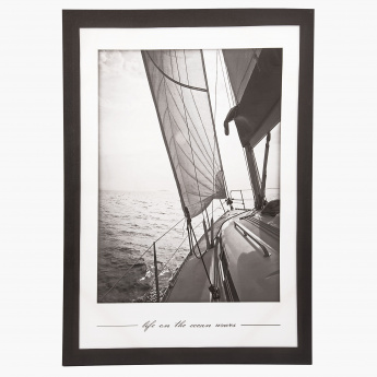 Sailing Boat Print Canvas - 50x70 cms