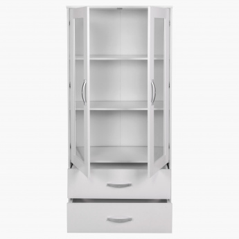 Merlin 2-Door 2-Drawer Showcase