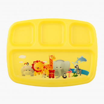 Safari Printed 4 Compartment Plate