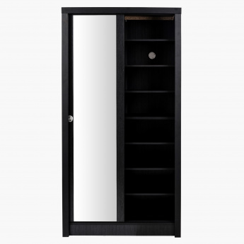 Great Sliding Door Shoe Cabinet with Mirror