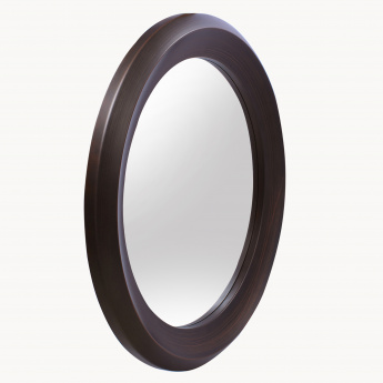 Kuril Thick Border Round Wall Mirror - 85 cms