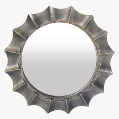 Crozet Thick Border Round Decorative Wall Mirror - 66 cms