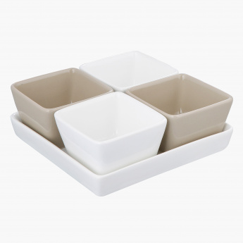 Nova 5-Piece Bowl and Plate Set