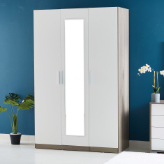 Cathy New 3-Door Teens Wardrobe with Mirror