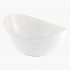 Waves Porcelain Oval Bowl - 30 cms
