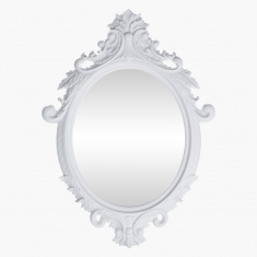 Palace Decorative Oval Wall Mirror 4x60x83 cms