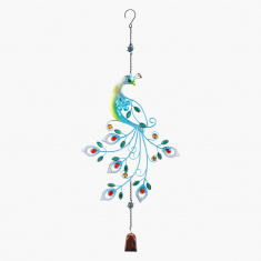 Studded Peacock Wind Chime