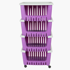 Rinie 4-Tier Storage Rack with Caster Wheels