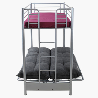 Happy Bunk Bed with Futon Mattress - 90x190 cms