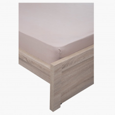 Uni Twin Super King Fitted Sheet - 200x200 cms