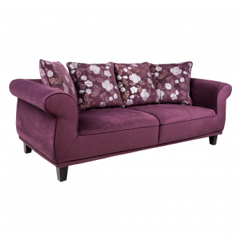 Radlix 3-Seater Sofa with 4 Cushions