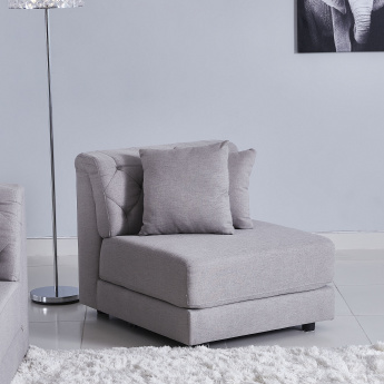 Emotion Armless Corner Chair with 2 Cushions