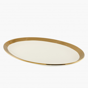 Aurum Dotted Oval Plate - 40 cms