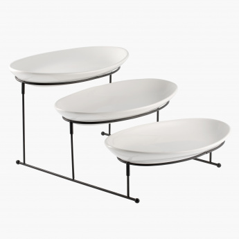 Nova 3-Tier Oval Buffet Server