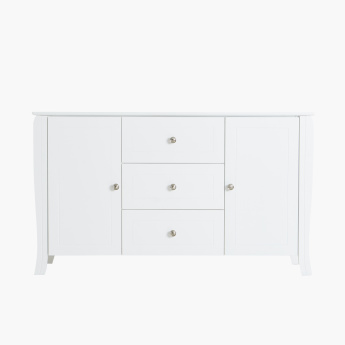 Queen Anne 3-Drawer Sideboard with 2 Doors