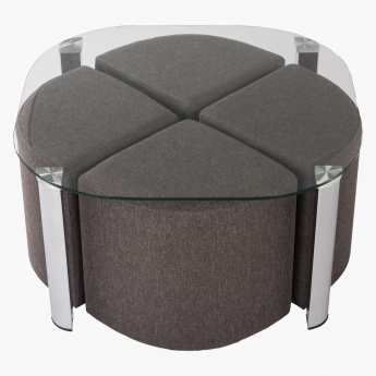 Doreen Coffee Table with 4 Ottomans