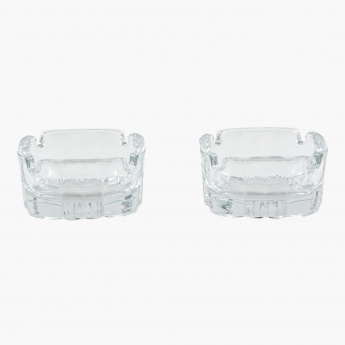 Crystal Keyf 2-Piece Ashtray Set
