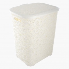 Lace Design Laundry Hamper