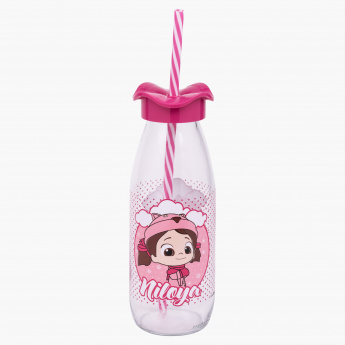 Niloya Bottle with Straw - 0.5 L