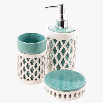 Lattice 3-Piece Bathroom Accessory Set