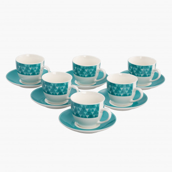 Valerie 12-Piece Cup and Saucer Set