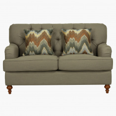 Country 2-Seater Sofa with 2 Printed Pillows