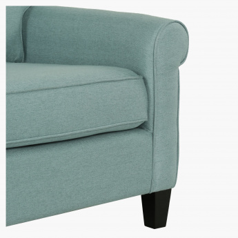 Angelic Oakwood 3-Seater Sofa with 2 Pillows