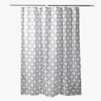 Sewell Shower Curtain with 12 Hooks