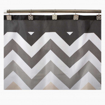 Rims Shower Curtain with 12 Hooks