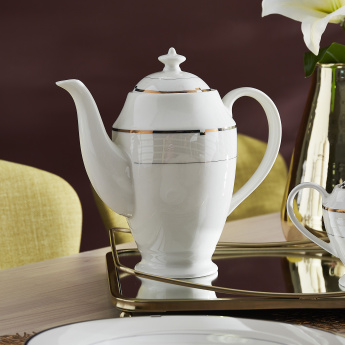 Gold Rib Tea Pot