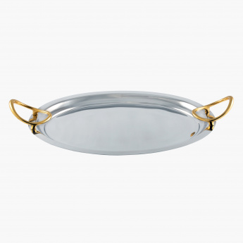 Essence Oval Tray with Handle - 51 cms