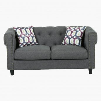 Wonderful Wendy Studded 2 Seater Sofa With Cushions