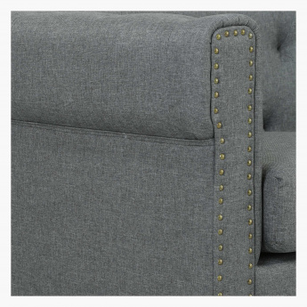 Wendy Studded 2 Seater Sofa with Cushions
