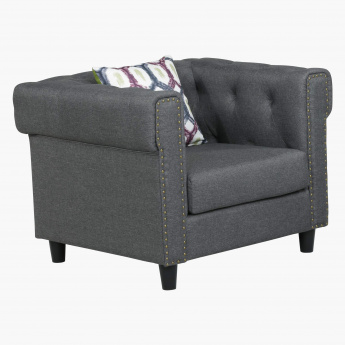 Wendy Studded 1 Seater Sofa with Cushion